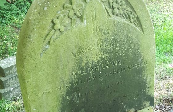 Gravestone of WERRELL William Edwin 1901