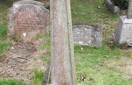Gravestone of JOYCE Ernest Noel 1913; JOYCE John Barnett 1910