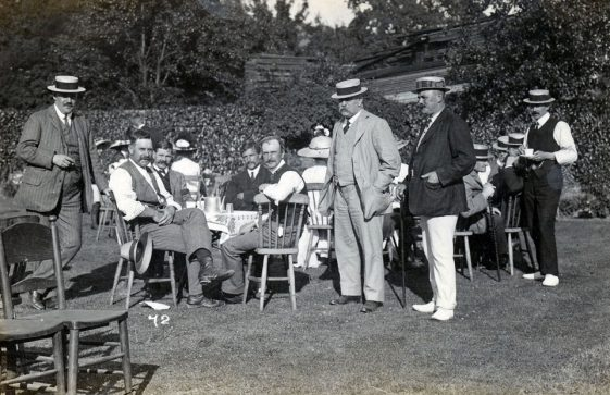 Tea at St Margaret's Bowls Club. c.1914