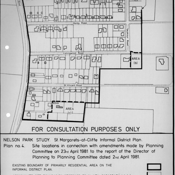 Plans from Director of Planning for DDC for the Nelson Park Estate dated 11 March 1981
