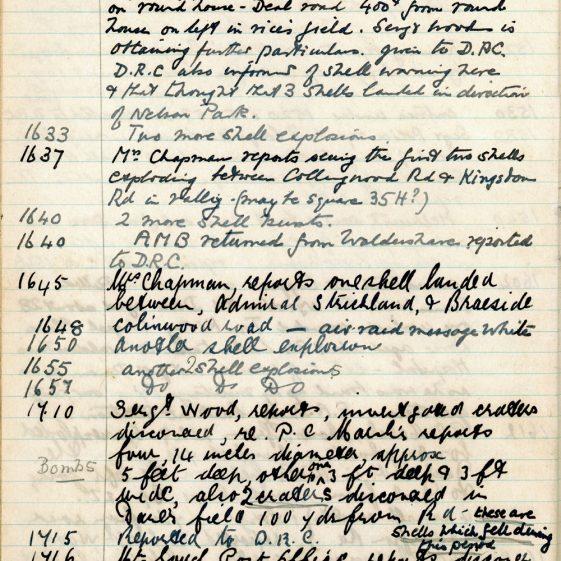 St Margaret's ARP (Air Raid Precautions) Log. Volume 3. 2 November 1940 - 17 February 1941. Pages 20-26