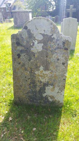 Gravestone of DENN John 1779; DENN Catherine 1776