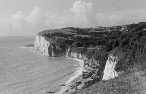 St Margaret's Bay from The Leas. Early 1950s