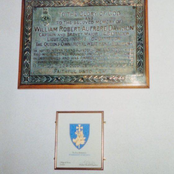WW1 Memorial in St Margaret's Church