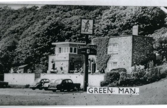 The Green Man and the landlord Bunny Austin. 1955-60