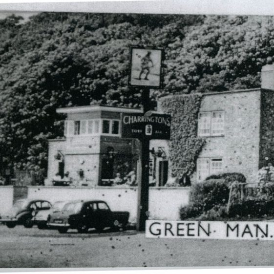 Re-built Green Man and the landlord Bunny Austin. 1955-60