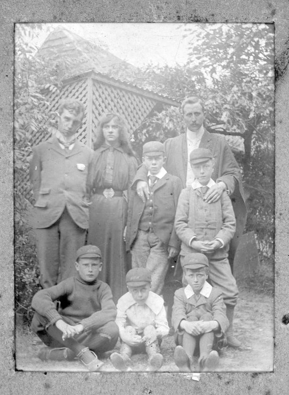 Family or school group. c1906