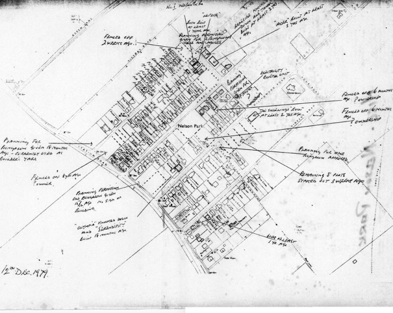 Copy of a plan of Nelson Park dated 12 December 1979