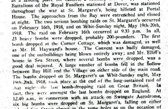 Extract from St Margaret's Visitors' Guide 'St Margaret's and The Great War'