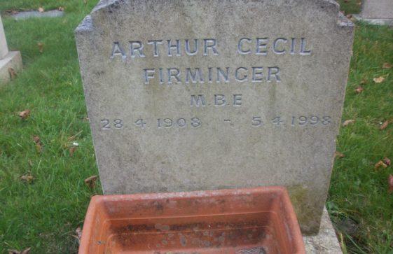 Gravestone of FIRMINGER Arthur Cecil 1998
