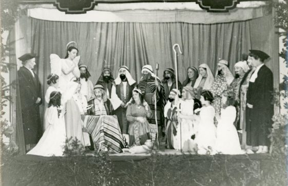 The cast of a WI Nativity Play. undated