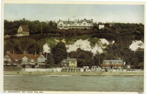 St Margaret's Bay from the Sea.  post 1921