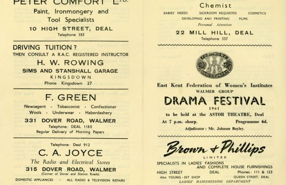 Programme for the WI Drama Festival, 'Farewell my Princess' and 'St Margaret of Antioch'. 1960