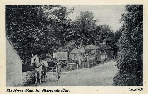 The Green Man Inn, with pony and cart in the foreground, c1900