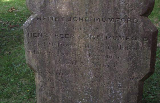 Gravestone of MUMFORD Henry John 1868