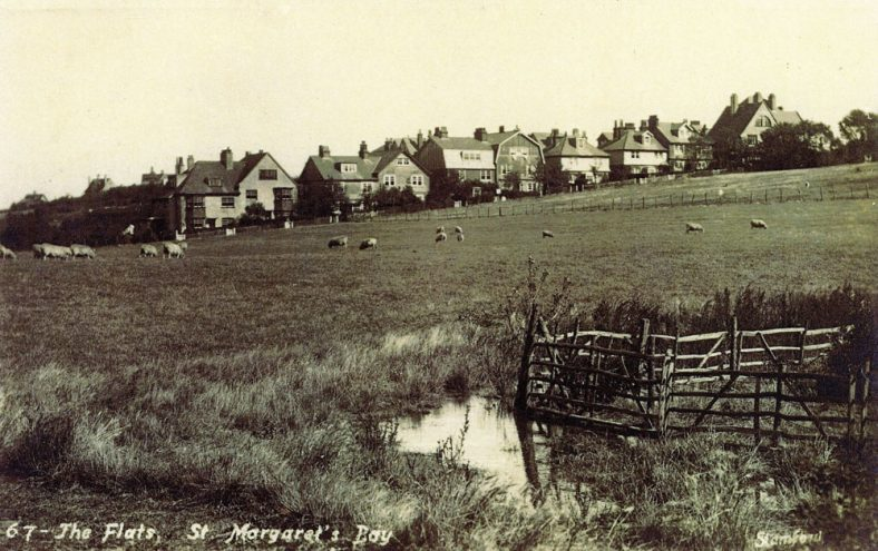 From Sea Street across the fields towards 'The Flats' in Droveway Gardens. dated 12 August 1928