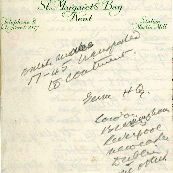 St Margaret's ARP (Air Raid Precautions) Log. Volume 2. 24 July 1940 - 2 November 1940. Pages 81-89
