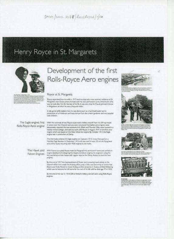 Henry Royce in St Margaret's. 1913 - 1917 | Waterman, Christine