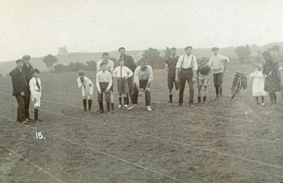 Men and Boys race at St Margaret's Sports Day. 1909