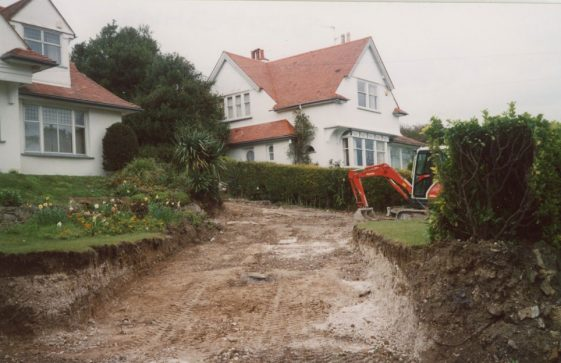 May Cottage, Granville Road, new drive way. 28 April 2004