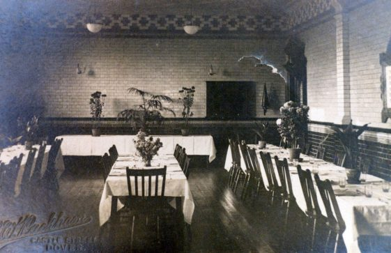 Dining room at Morley House. c1905