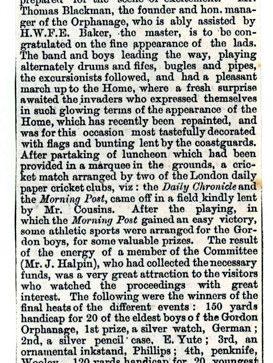 Morley House celebrations 13 July 1888