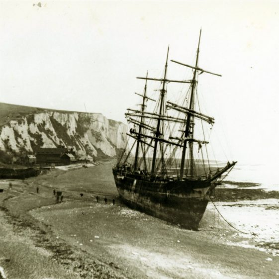 The Firth of Cromarty, a series of photographs of the stranding in St Margaret's Bay. 1894