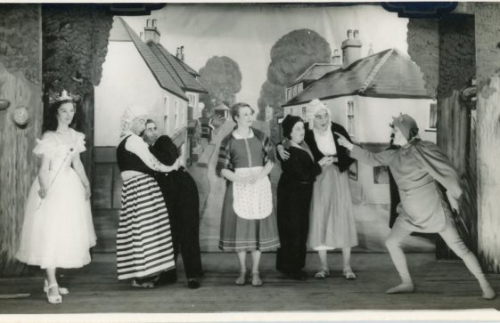 Cast of St Margaret's Players pantomime 'Beauty and the Beast'. 1955