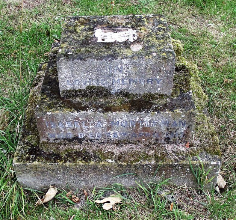 Gravestone of MORTLEMAN Isabella 1917