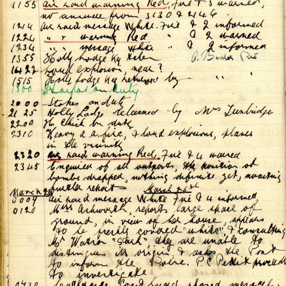 St Margaret's ARP (Air Raid Precautions) Log. Volume 5. 25 September 1941 - 17 July 1942. Pages 78 - 86