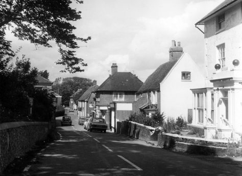Cliffe House, High Street and village shops . c1972