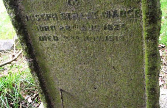 Gravestone of MADGE Joseph Streat 1913
