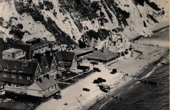 Aerial view of St Margaret's Bay Hotel. c.1938