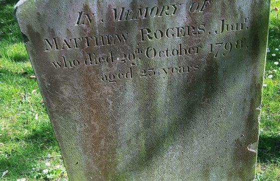 Gravestone of ROGERS Matthew 1798