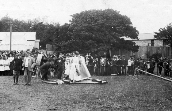 Musicians and spectators at St Margaret's Sports Day. c1910