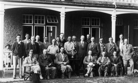 Group photograph of St Margaret's Golf Club members