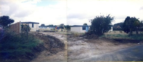 Part of Maddieson's Camp site to become new build Langdon Close. 1984-6