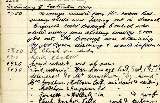 St Margaret's ARP (Air Raid Precautions) Log. Volume 9. 10 August 1944 - 30 June 1945. Pages 31-39