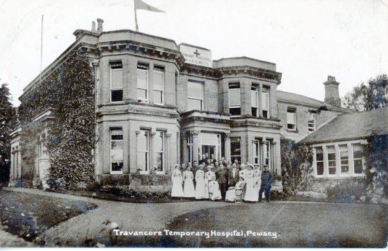 Postcard sent to Bockhill Farm from Tranacore temporary hospital. 1916