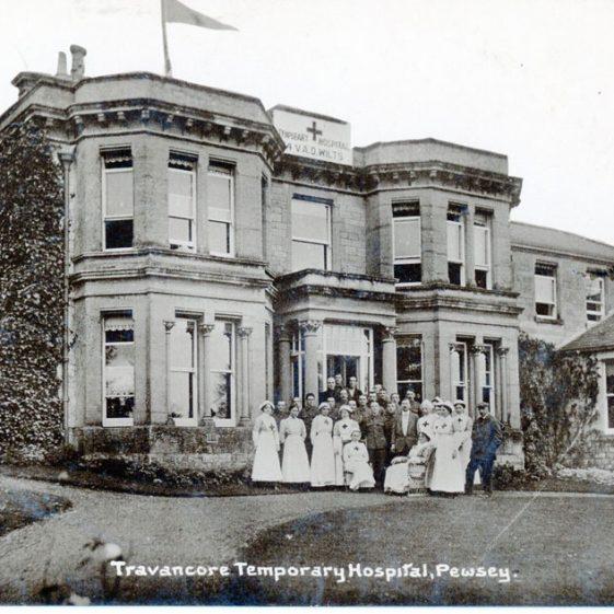 Postcard sent to Bockhill Farm from Tranacore temporary hospital,1916