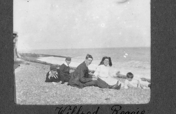 Young people on a beach.  1906