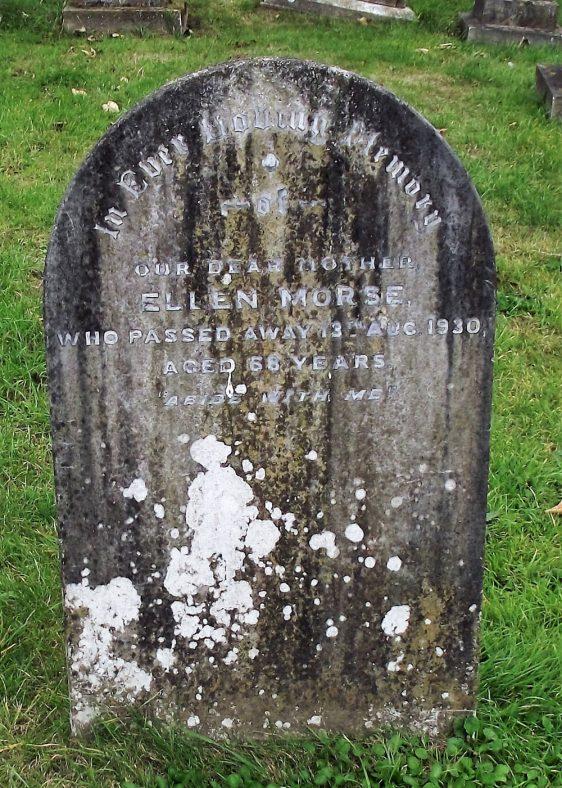 Gravestone of MORSE Ellen 1930