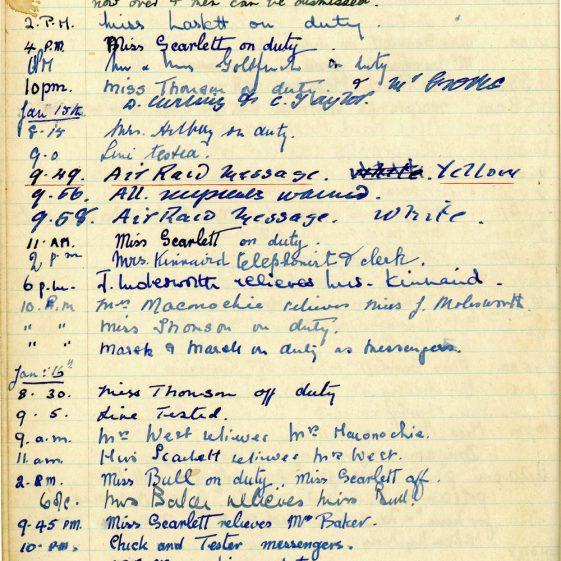 St Margaret's ARP (Air Raid Precautions) Log. Volume 1. 1 September 1939 - 24 July 1940. Pages 51-60
