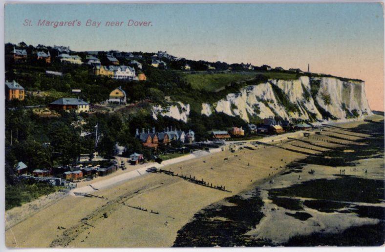 St Margaret's Bay from Ness Point. postmark 1930