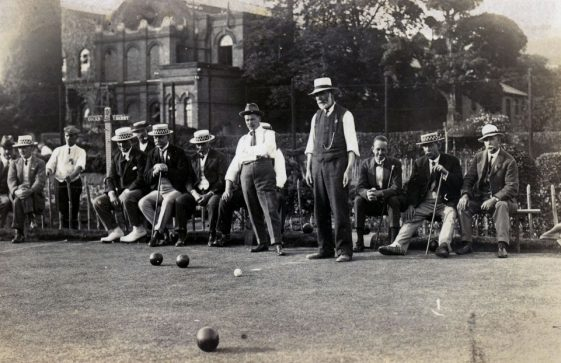 St Margaret's Bowls Club match at Kearsney c.1910