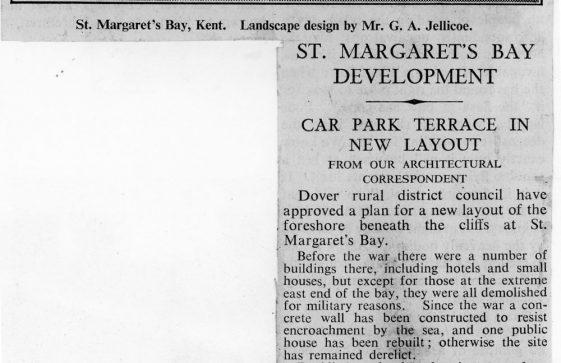 Plan for development at St Margaret's Bay. 1955