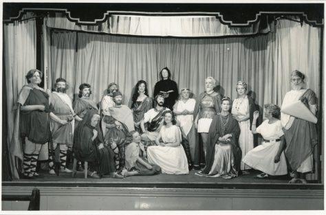 Cast of St Margaret's WI production 'St Margaret of Antioch'. 1960