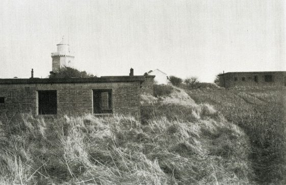 The 540 Coast Siege Regiment headquarters buildings behind the South Foreland Lighthouse in WWII