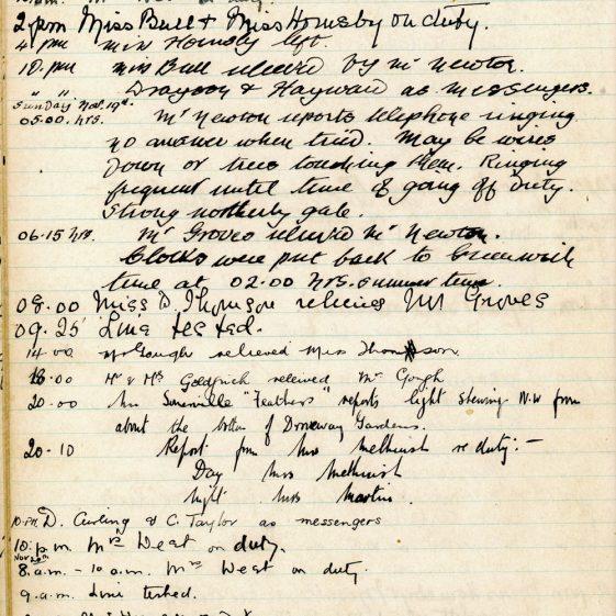 St Margaret's ARP (Air Raid Precautions) Log. Volume 1. 1 September 1939 - 24 July 1940. Pages 31-40