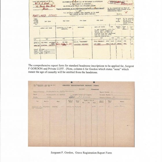 Sergeant Frank Gordon RMLI. died 1916